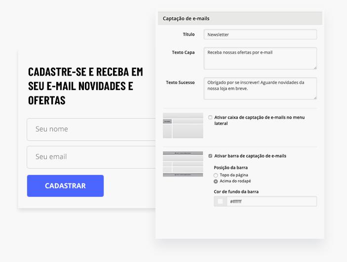 Cadastro de emails para Newsletter